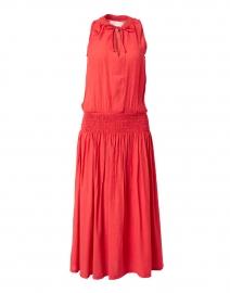 Francine Vermillion Red Crinkled Dress