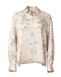 Hazy Blossom Print Silk Blouse