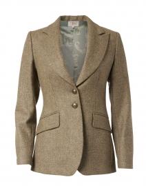 Beige and Gold Lurex Tweed Swing Jacket