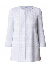 Amina Rubinacci - Codorna Pale Grey and White Jacket