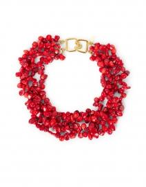 Coral Multi-Strand Necklace