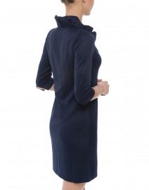Gretchen Scott - Navy Ruffle Neck Dress