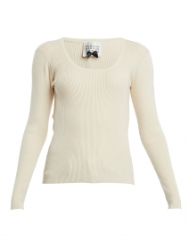 Camel Viscose Sweater with Gold Buttons