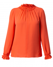 Salene Orange Silk Georgette Blouse