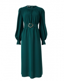 Iver Cedar Green Silk Dress