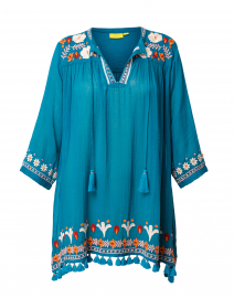 Serafina Floral Embroidered Tassle Top