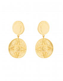 Nest - Gold Coin Drop Earrings