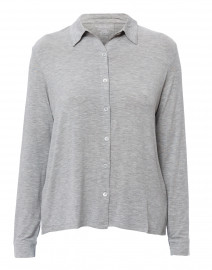 Grey Extrafine Button Down Top
