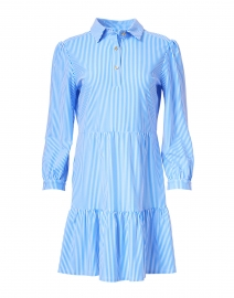 Henley Blue and White Pinstripe Shirt Dress
