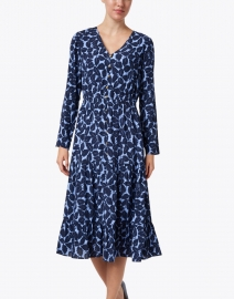 Sail to Sable - Blue Leaf Print Midi Dress