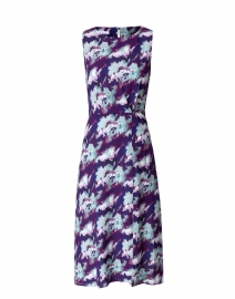 Dori Purple and Blue Abstract Floral Dress