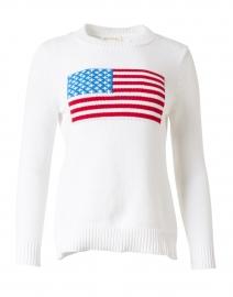White American Flag Cotton Intarsia Sweater