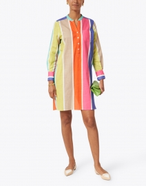 Vilagallo - Danett Multicolored Stripe Cotton Dress