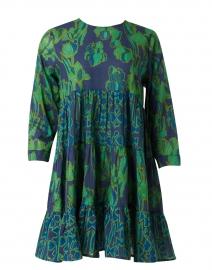 Rene Emerald and Navy Tulip Printed Dress