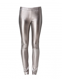 Lulu Metallic Grey Leather Leggings