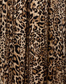 Helene Berman - Animal Printed Pleated Skirt