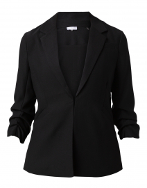 Black Satin Crepe Blazer