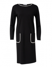 Gala Black Stretch Knit Dress