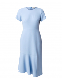 Cipriana Light Blue Crepe Midi Dress