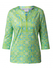 Turquoise and Lime Printed Tunic