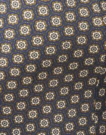 Weekend Max Mara - Flou Gold Tile Print Ruched Dress