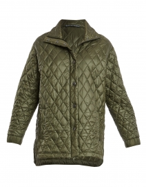 Olive Green Quilted Barn Jacket