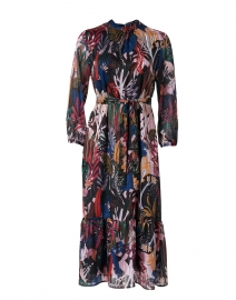 Veluna Black and Multi Nature Print Dress
