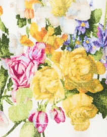 Samantha Sung - Charlotte White Rembrandt Floral Silk and Cashmere Sweater