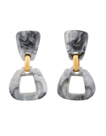 Zya Grey Resin Drop Clip On Earrings