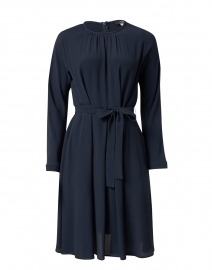 Jangy Navy Crepe Dress