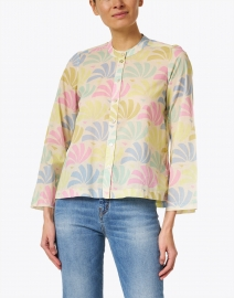 Warm - Roxanna Pale Pink Petal Printed Cotton Top