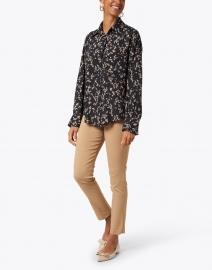 Seventy - Black and White Floral Print Shirt