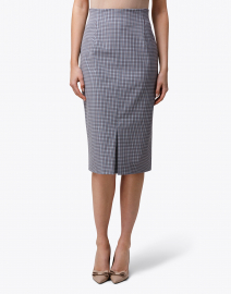 BOSS Hugo Boss - Vosephina Blue and Brown Mini Check Pencil Skirt