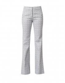 Kate White and Blue Micro Check Wide Leg Pant