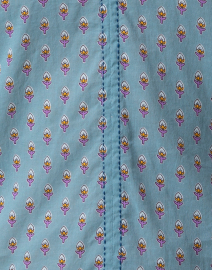 Roller Rabbit - Lucy Teal and Purple Floral Cotton Top