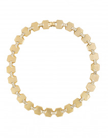 Meta Riviera Gold Crystal Necklace
