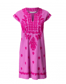 Faith Pink Embroidered Cotton Dress
