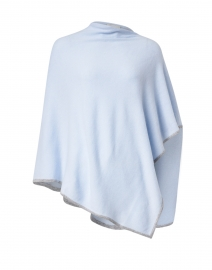 Light Blue and Grey Cashmere Poncho