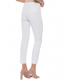 Cambio - Ros White Cotton Stretch Pant