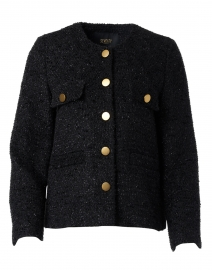 Black Metallic Tweed Jacket