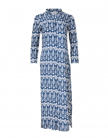 Indigo Ikat Print Duster Dress