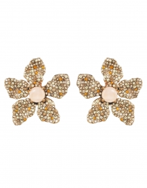 Rose Champagne and Pink Pave Earrings