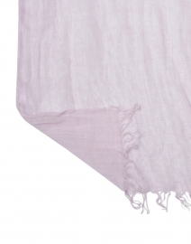 120% Lino - Light Pink Lurex Linen Scarf