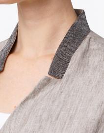Fabiana Filippi - Grey Linen Vest with Brilliant Detail
