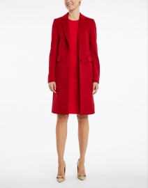 BOSS Hugo Boss - Dacriba Red Stretch Sheath Dress