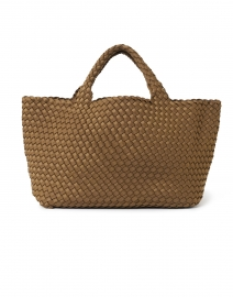 St. Barths Medium Mink Brown Woven Handbag