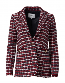 Therese Red, White and Black Checked Tweed Jacket