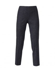Monia Blue and Black Speckled Plaid Stretch Pant