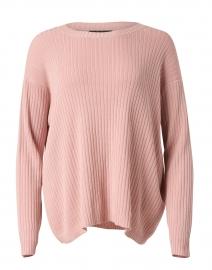Powder Pink Ribbed Cotton Tencel Sweater