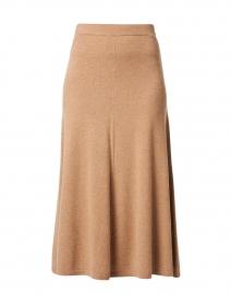 Camel Cashmere Knit Skirt